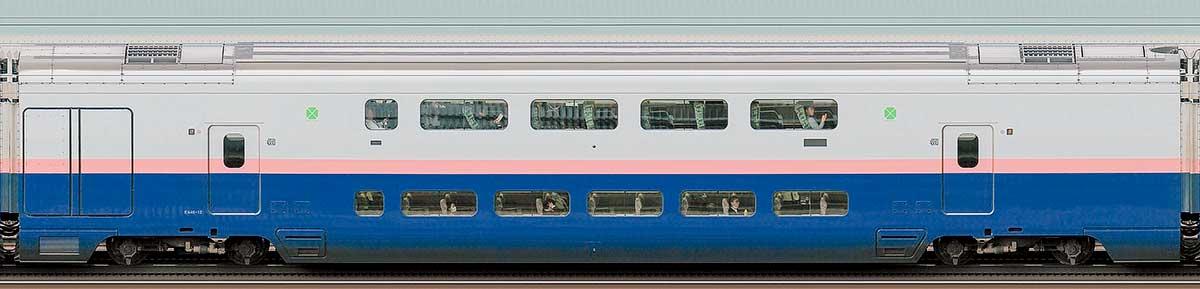 JR東日本E4系「Max」E446-12山側の側面写真