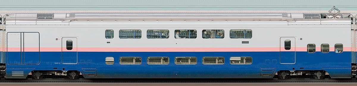 JR東日本E4系「Max」E455-12山側の側面写真