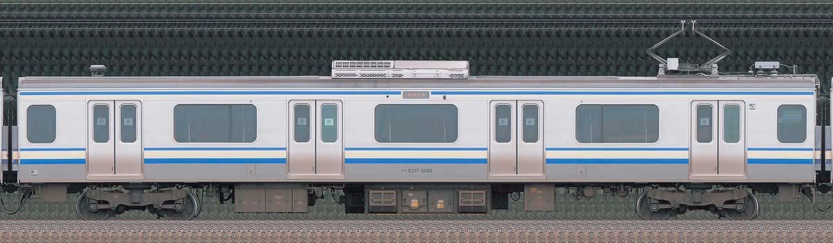 JR東日本E217系モハE217-2088山側の側面写真