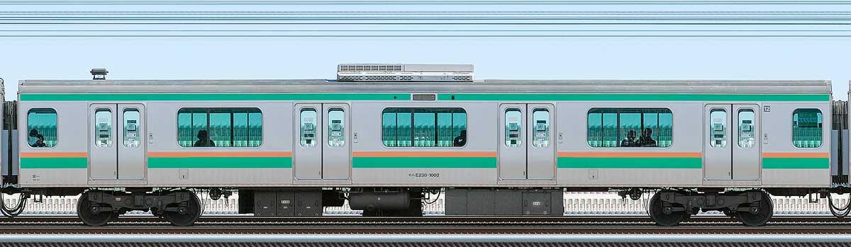 JR東日本E231系モハE230-1002山側の側面写真