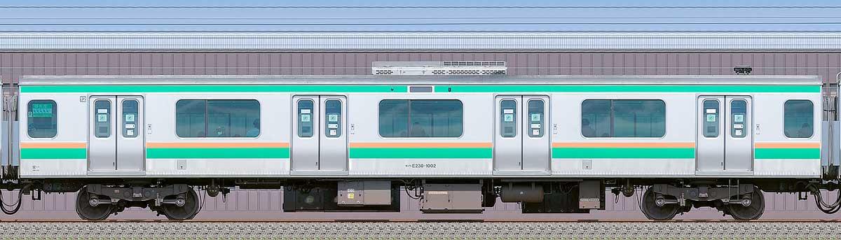 JR東日本E231系モハE230-1002海側の側面写真