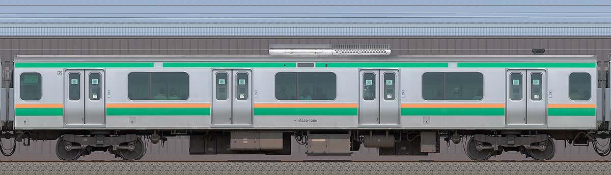 JR東日本E231系モハE230-1089海側の側面写真