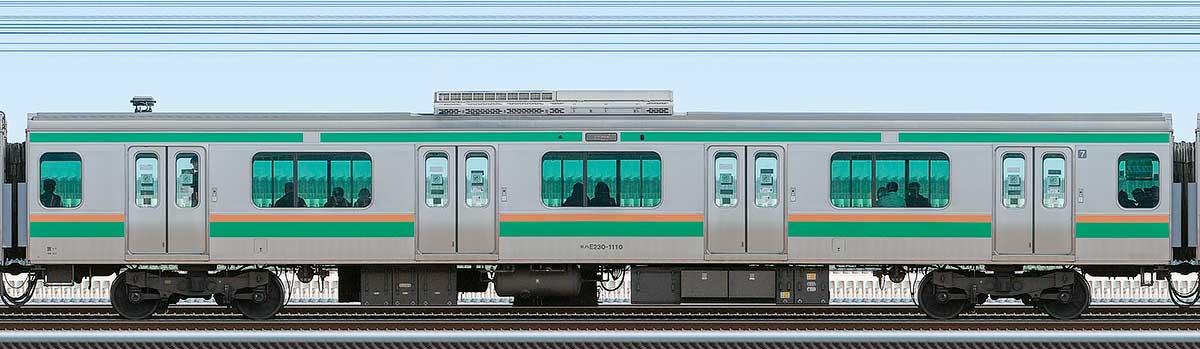 JR東日本E231系モハE230-1110山側の側面写真