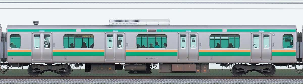 JR東日本E231系モハE230-1521山側の側面写真
