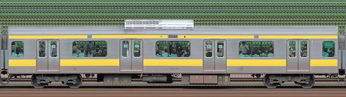 JR東日本E231系モハE230-619山側の側面写真
