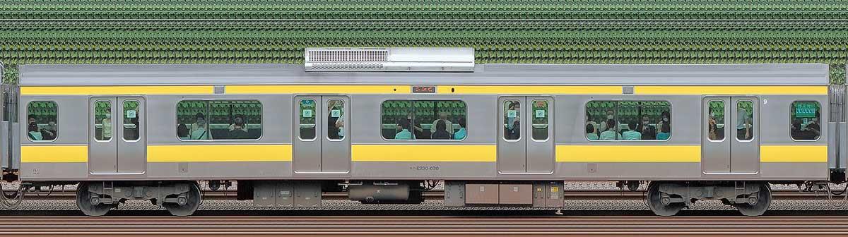 JR東日本E231系モハE230-620山側の側面写真