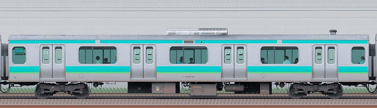 JR東日本E231系モハE230-94海側の側面写真