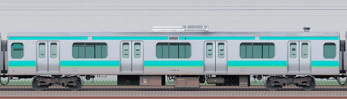 JR東日本E231系モハE230-95海側の側面写真