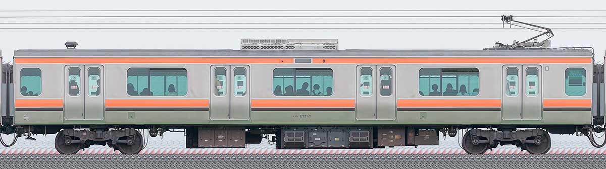 JR東日本E231系モハE231-2山側の側面写真
