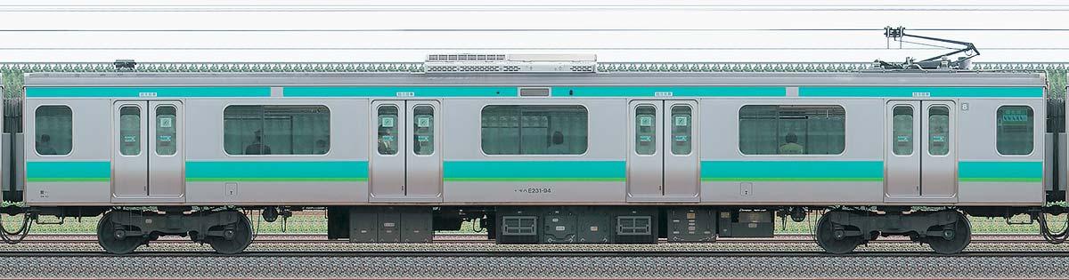 JR東日本E231系モハE231-94山側の側面写真