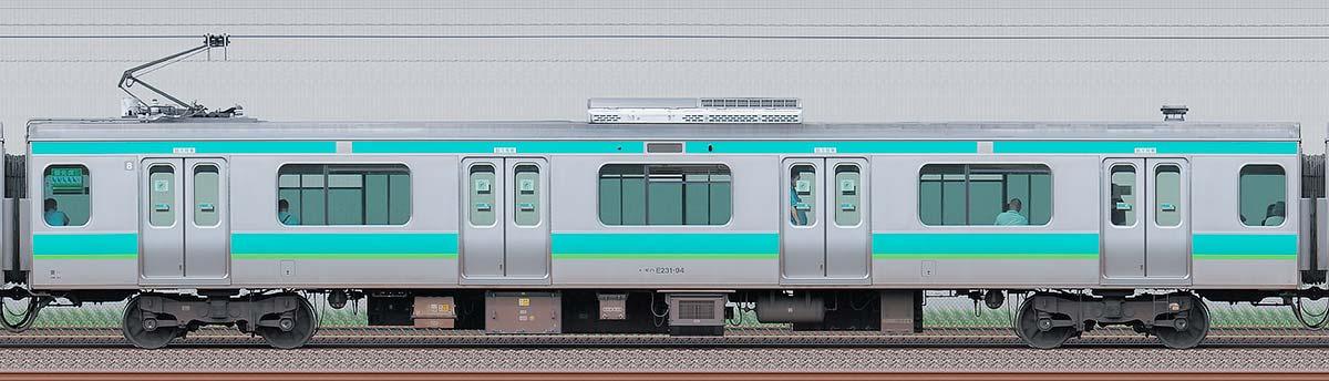JR東日本E231系モハE231-94海側の側面写真