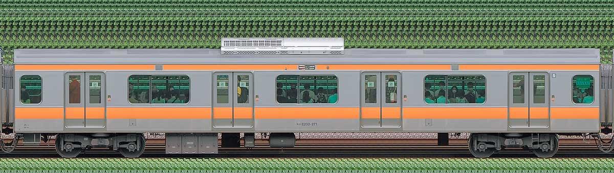 JR東日本E233系モハE232-271山側の側面写真