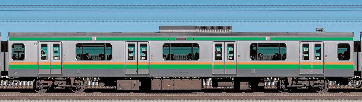 JR東日本E233系3000番台モハE232-3430海側の側面写真