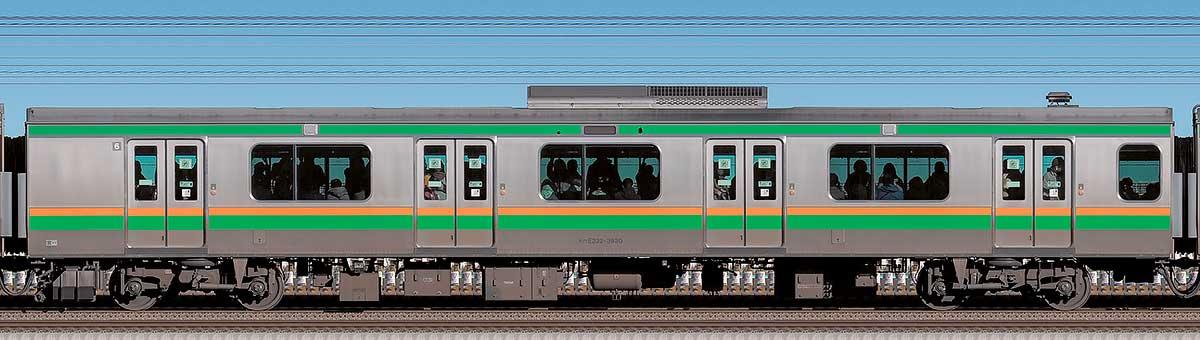 JR東日本E233系3000番台モハE232-3830海側の側面写真