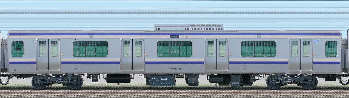 JR東日本E235系1000番台モハE234-1001海側の側面写真