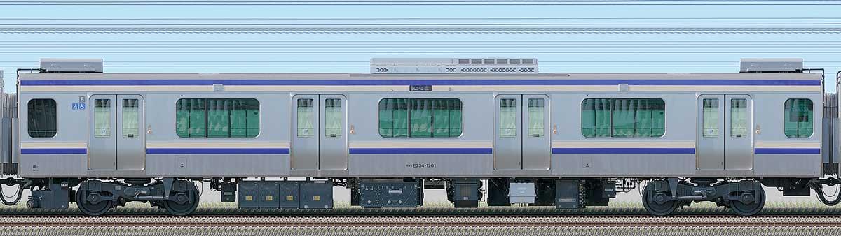 JR東日本E235系1000番台モハE234-1201海側の側面写真