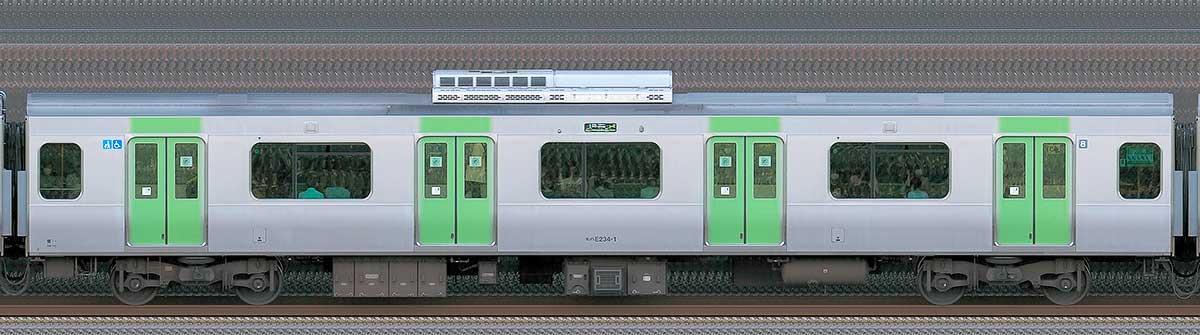 JR東日本E235系モハE234-1山側(東京駅基準)の側面写真