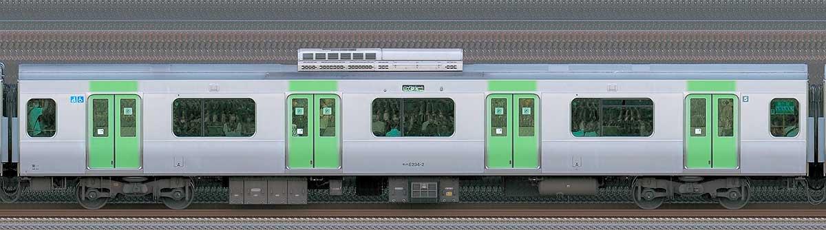 JR東日本E235系モハE234-2山側(東京駅基準)の側面写真