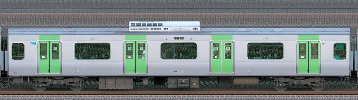 JR東日本E235系モハE234-3山側(東京駅基準)の側面写真