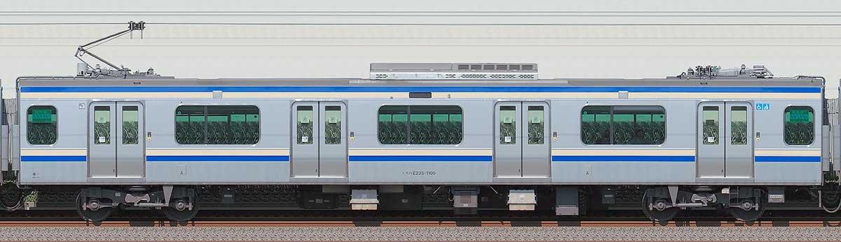 JR東日本E235系1000番台モハE235-1105海側の側面写真