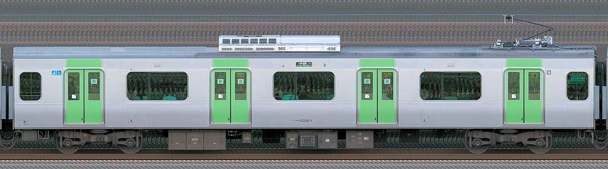 JR東日本E235系モハE235-1山側(東京駅基準)の側面写真