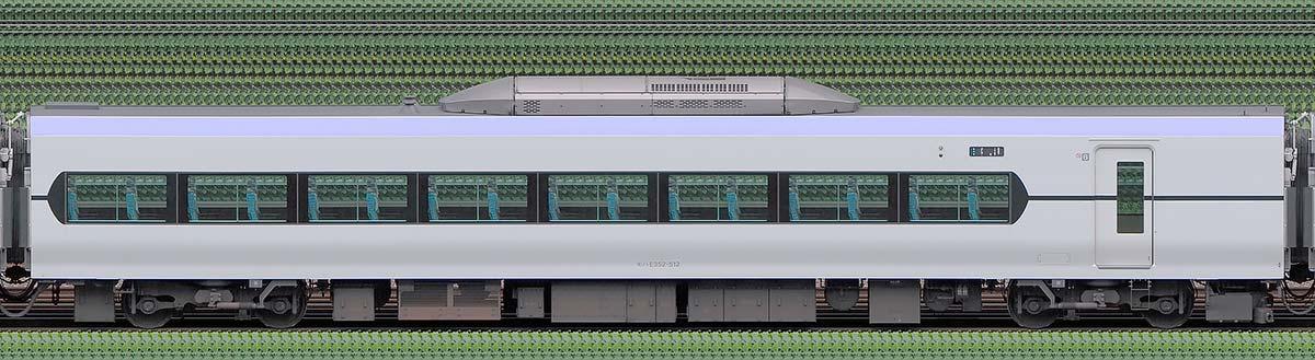 JR東日本E353系モハE352-512山側の側面写真