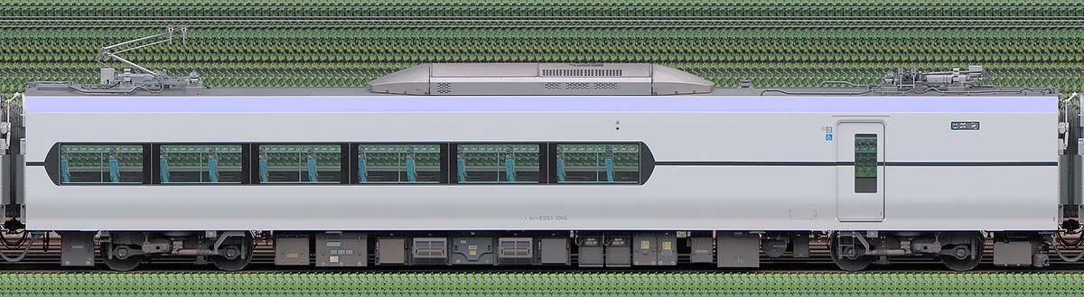 JR東日本E353系モハE353-1005山側の側面写真