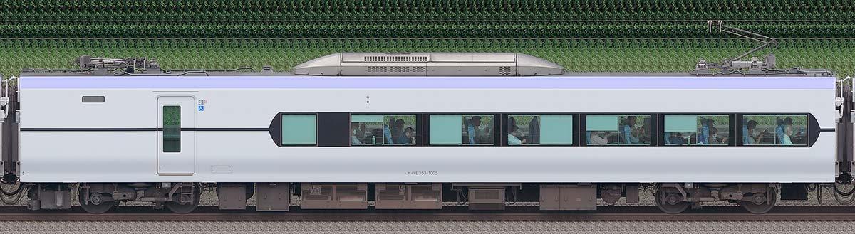 JR東日本E353系モハE353-1005海側の側面写真