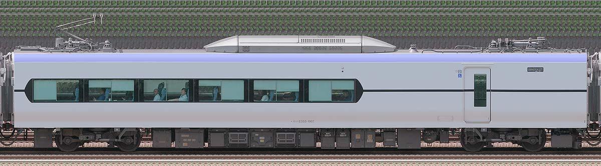 JR東日本E353系モハE353-1007山側の側面写真