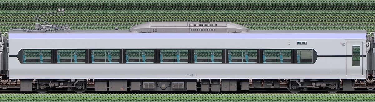 JR東日本E353系モハE353-12山側の側面写真