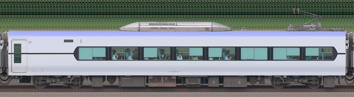 JR東日本E353系モハE353-12海側の側面写真