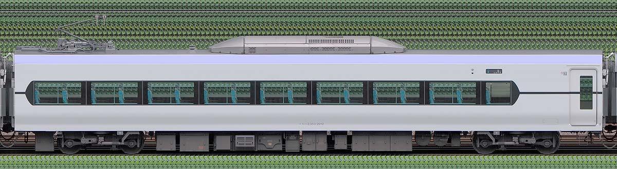 JR東日本E353系モハE353-2012山側の側面写真