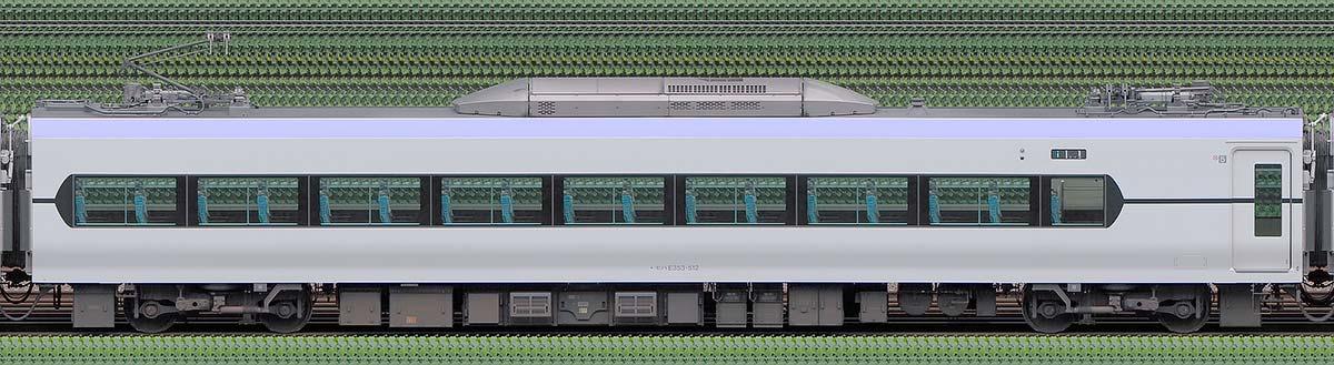 JR東日本E353系モハE353-512山側の側面写真