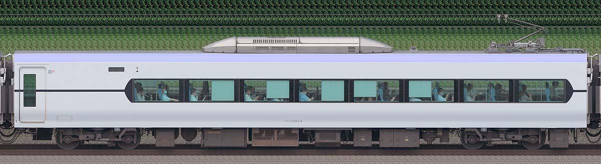 JR東日本E353系モハE353-6海側の側面写真