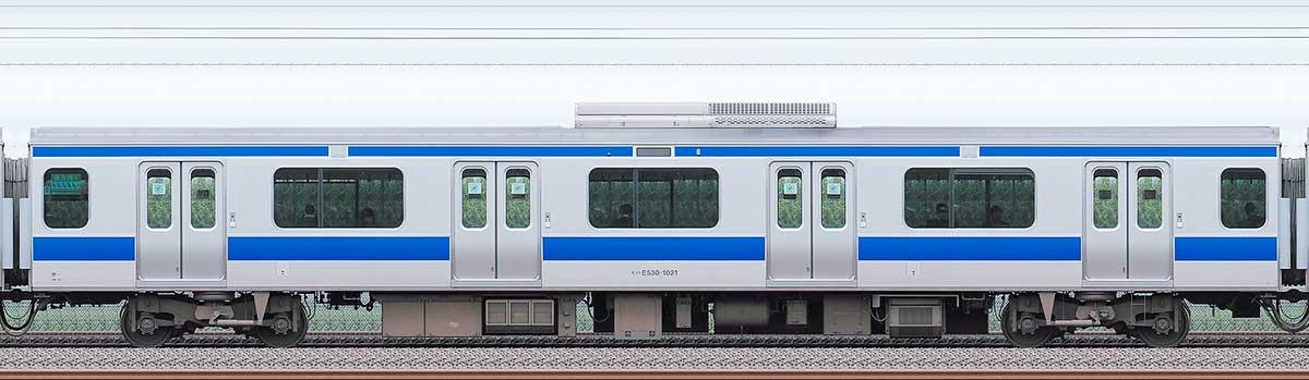 JR東日本E531系モハE530-1021海側の側面写真
