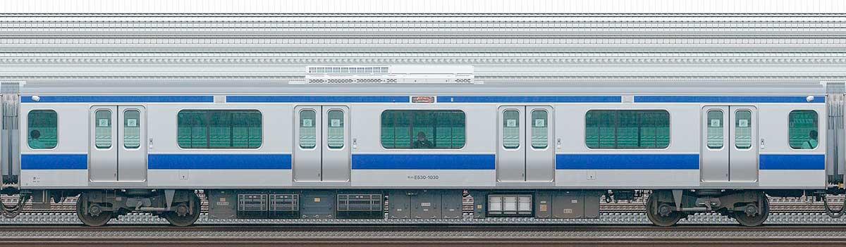 JR東日本E531系モハE530-1030山側の側面写真