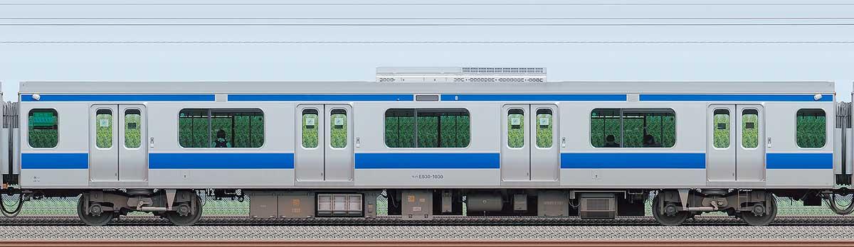 JR東日本E531系モハE530-1030海側の側面写真
