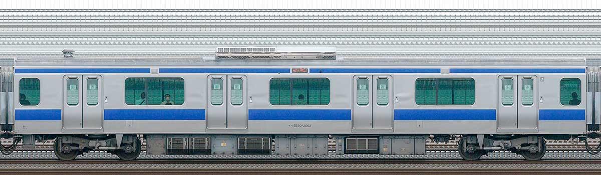 JR東日本E531系モハE530-2002山側の側面写真