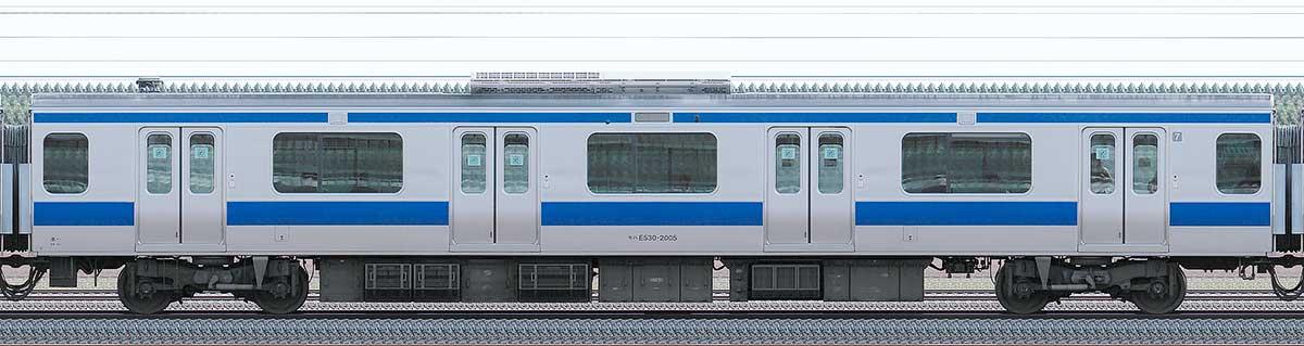JR東日本E531系モハE530-2005山側の側面写真