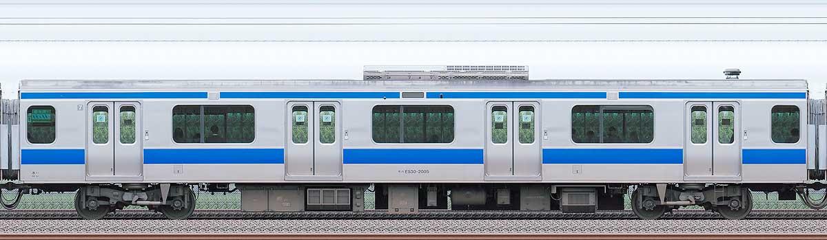 JR東日本E531系モハE530-2005海側の側面写真