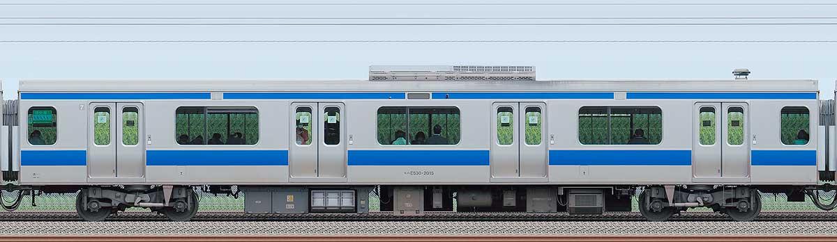 JR東日本E531系モハE530-2015海側の側面写真