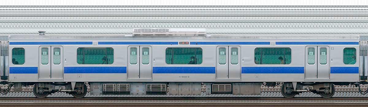 JR東日本E531系モハE530-2山側の側面写真