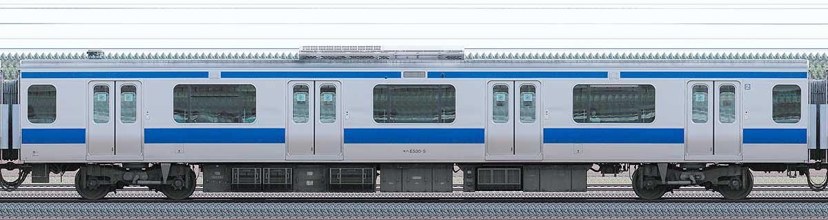 JR東日本E531系モハE530-5山側の側面写真