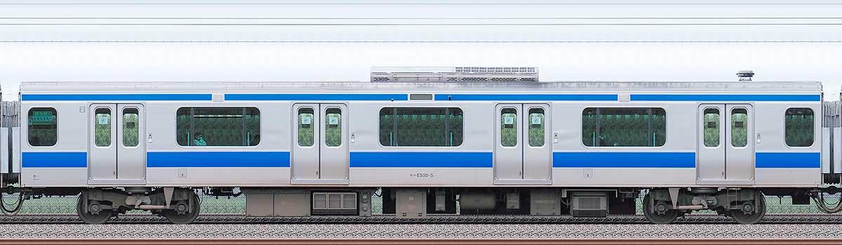 JR東日本E531系モハE530-5海側の側面写真