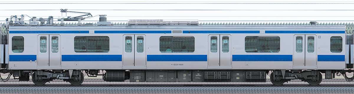 JR東日本E531系モハE531-1005山側の側面写真