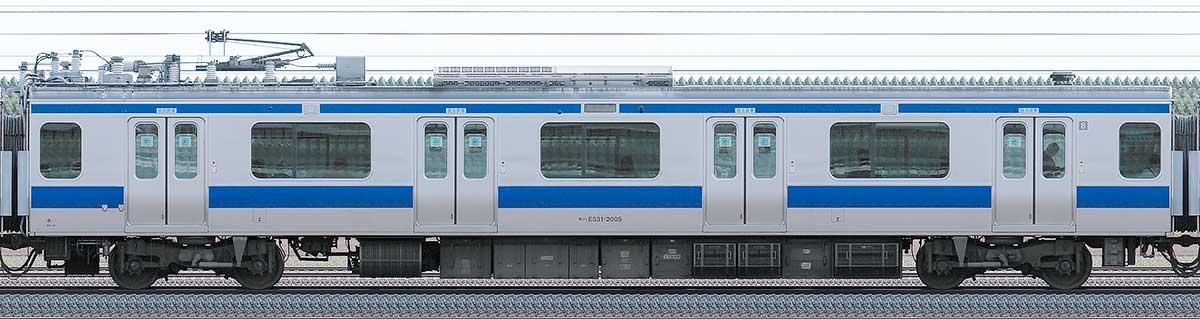 JR東日本E531系モハE531-2005山側の側面写真