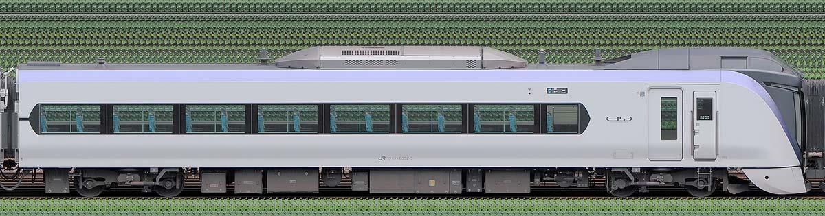 JR東日本E353系クモハE352-5山側の側面写真