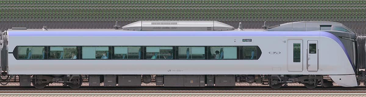 JR東日本E353系クモハE352-7山側の側面写真