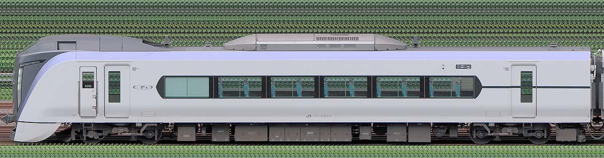 JR東日本E353系クモハE353-5山側の側面写真