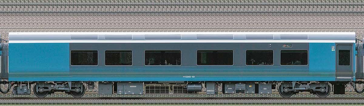 JR東日本E261系「サフィール踊り子」モロE260-101海側の側面写真